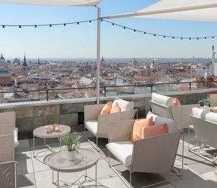 Terrace with view VINCCI CAPITOL  Madrid